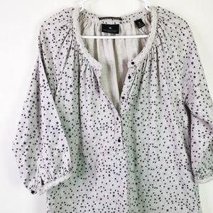 Maison Scotch XS S Star Printed Tunic Dress Gray